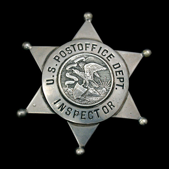 image for Postal inspector chest badge