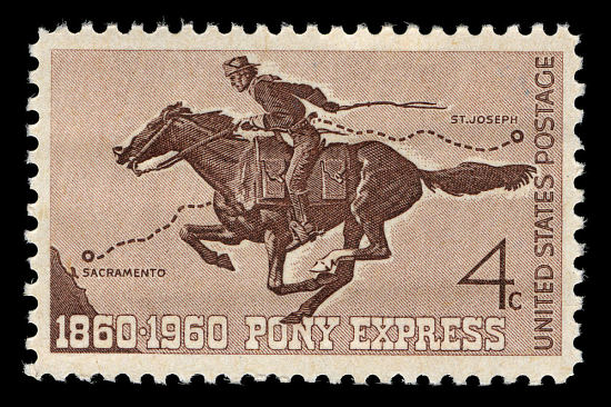 image for 4c Pony Express single
