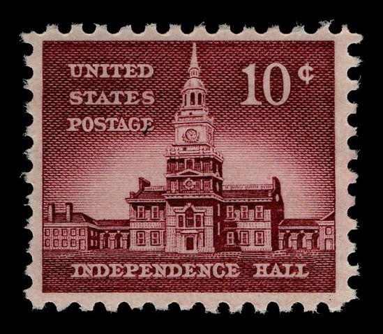 image for 10c Independence Hall single