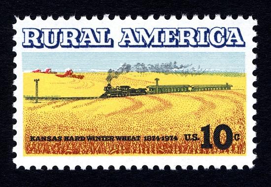 image for 10c Wheat Fields & Train single
