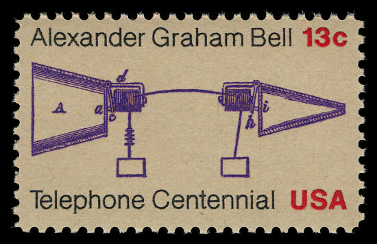 image for 13c Telephone Centennial single