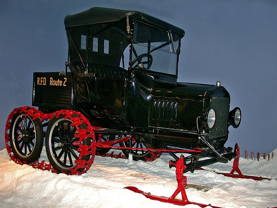 image for Ford Model-T with snowmobile attachment