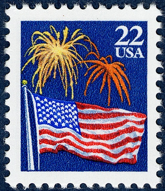 image for 22c Flag & Fireworks single