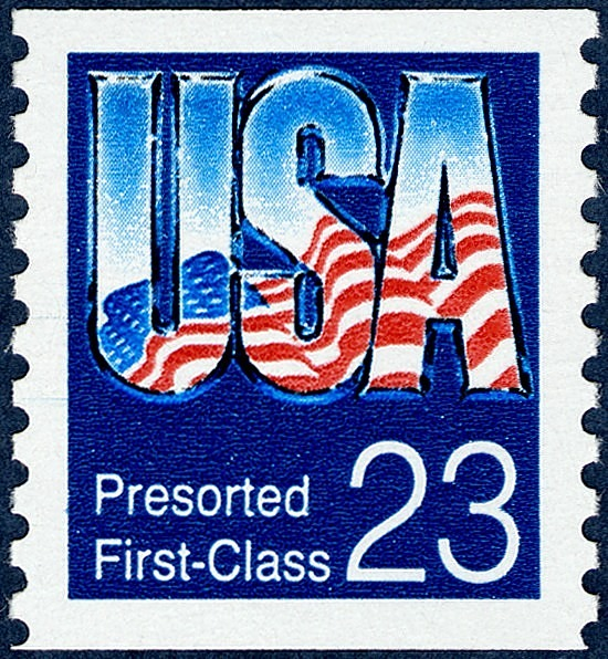 image for Presorted First-Class (23c) USA Flag Reflection