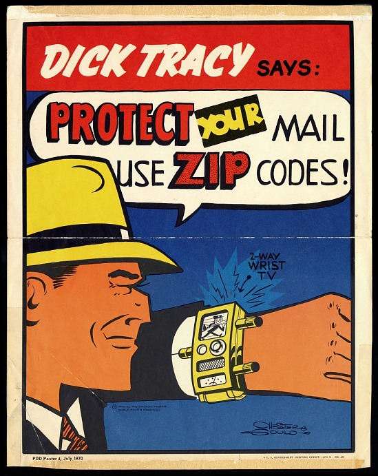 image for ZIP code poster featuring Dick Tracy