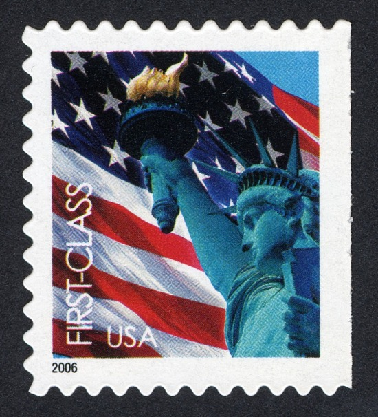 image for 37c Flag and Statue of LIberty single