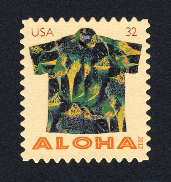 image for 32c Aloha Shirt: Kilauea Volcano single