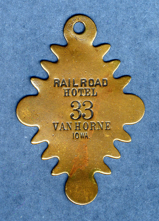 image for Railroad Hotel Owney tag