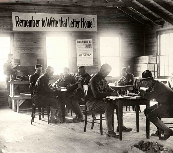 image for Photograph of soldiers writing letters home