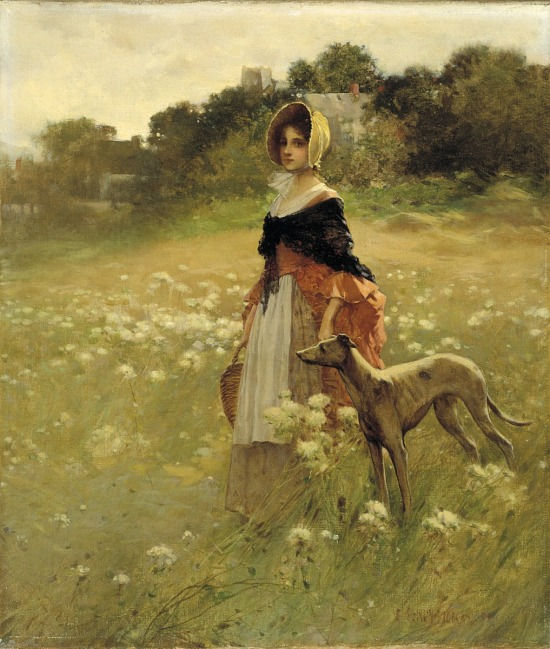 image for Young Girl and Dog