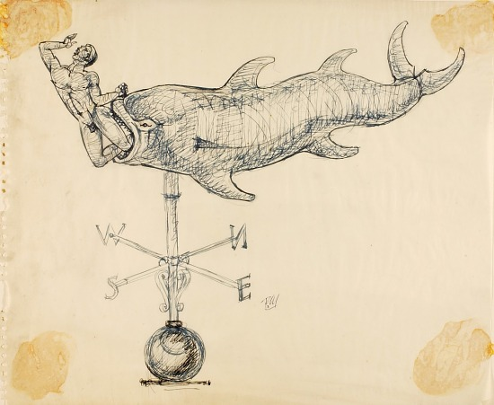 image for Jonah and the Whale, Study for Weathervane
