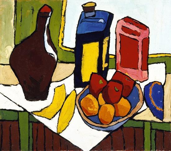 image for Still Life--Fruit, Bottles