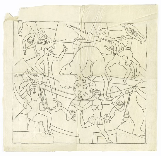 image for The Circus (design for tapestry, New York)