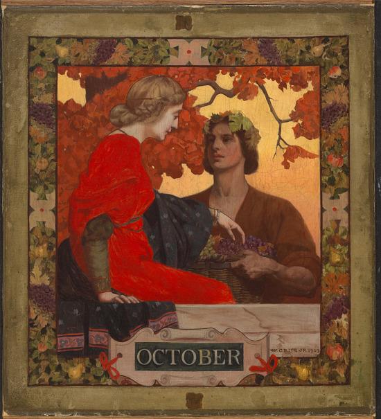 image for October (cover illustration for Harper's Magazine)