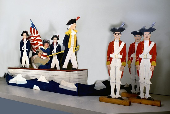 image for Washington Crossing the Delaware: American Flag, Boat, and Soldiers
