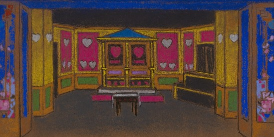 image for The Court of Hearts (set design for Alice-in-Wonderland)