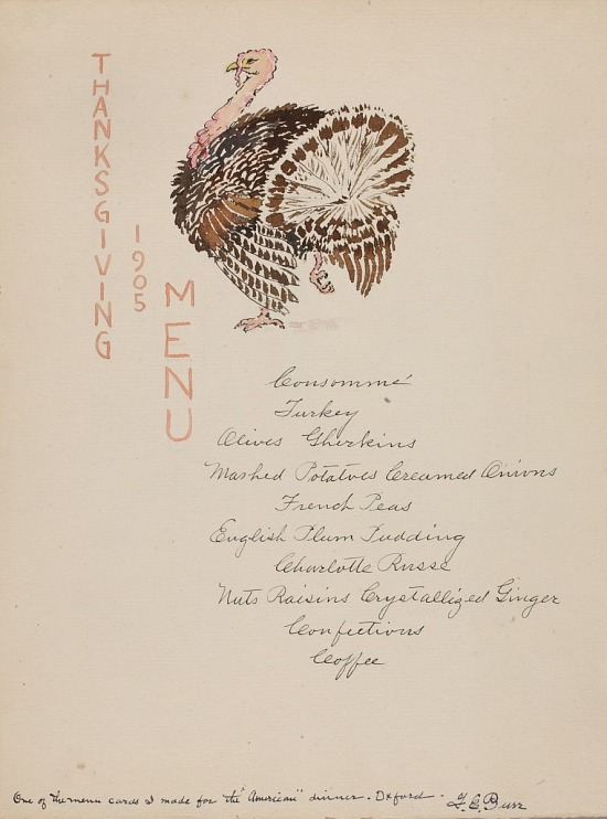 image for Thanksgiving Menu