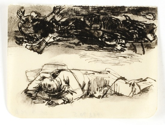 image for Untitled (War Scene, Wounded Soldier)