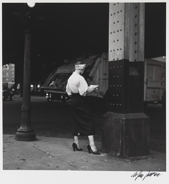 image for Woman Reading Paper Under the El