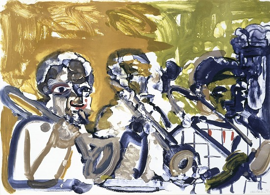image for Brass Section (Jamming at Minton's), from the Jazz Series