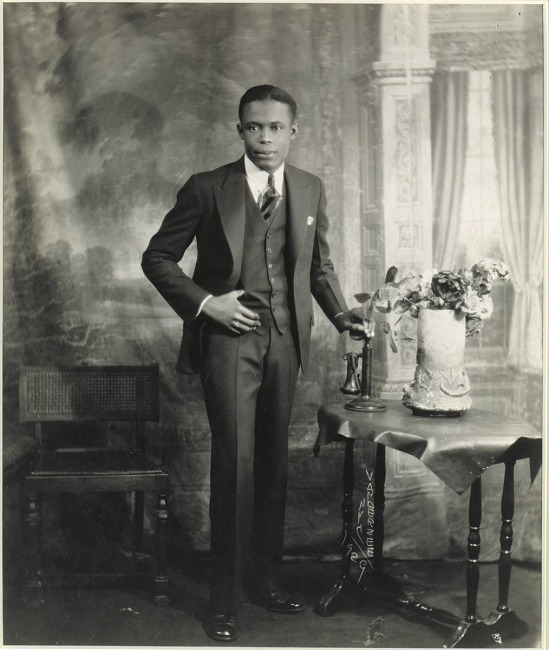 image for Studio Portrait of Young Man with Telephone