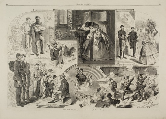 image for News from the War, from Harper's Weekly, June 14, 1862