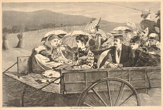 image for The Straw Ride, from Harper's Bazar, September 25, 1869