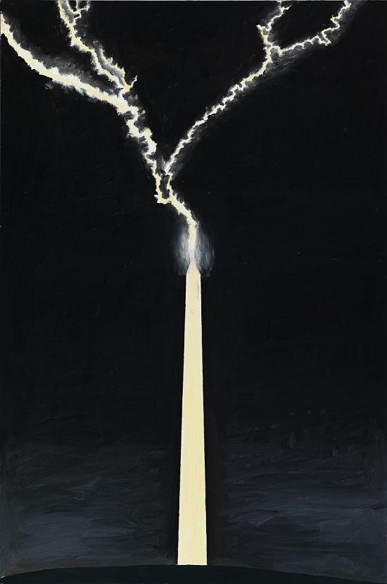 image for Untitled, Washington Monument with Lightning