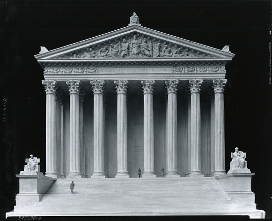 "image for United States Supreme Court Building, Model for pediment ""Equal Justice Under Law"" sculpture / (photographed by Peter A. Juley & Son)"