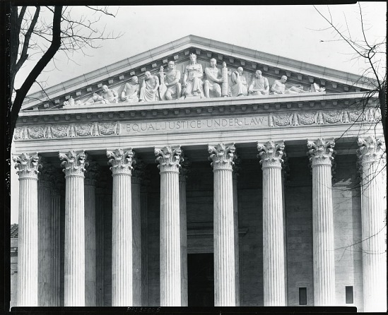 """image for United States Supreme Court Building pediment """"Equal Justice Under Law"""" sculpture / (photographed by Peter A. Juley & Son)"""