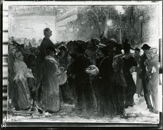 image for The Suffrage Meeting painting / (photographed by Peter A. Juley & Son)