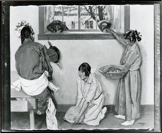 image for Thanksgiving Time painting / (photographed by Peter A. Juley & Son)
