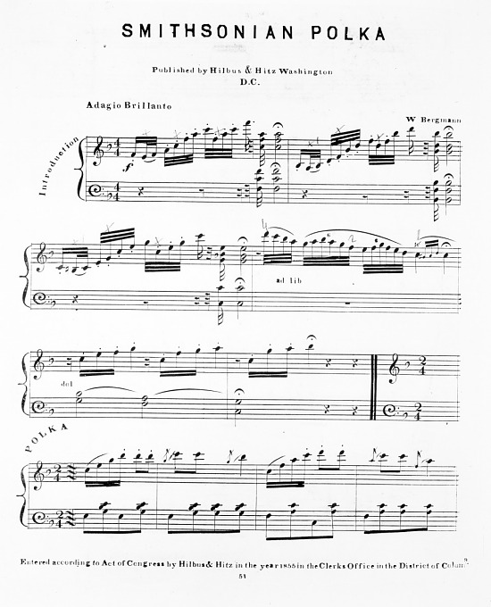 image for Music for Smithsonian Polka by W. Bergman