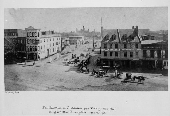image for Smithsonian Institution Building from Pennsylvania Ave, 1874