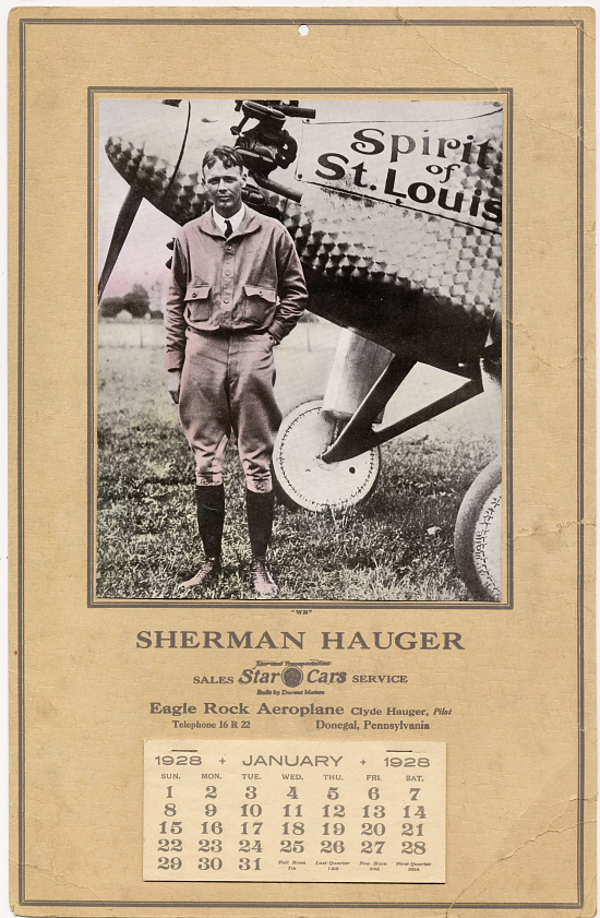 image for Calendar, Advertisement, Lindbergh, King Collection