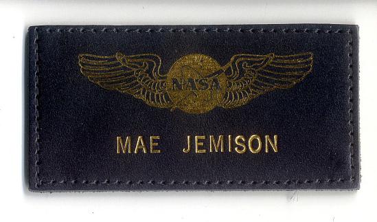 image for Name Tag, Shuttle Astronaut (Jemison) (Flown)