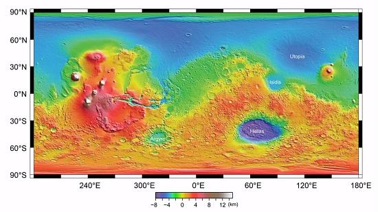 Tharsis Rise, Mars