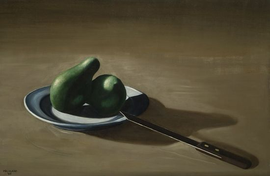 image for Avocados on Plate with Knife