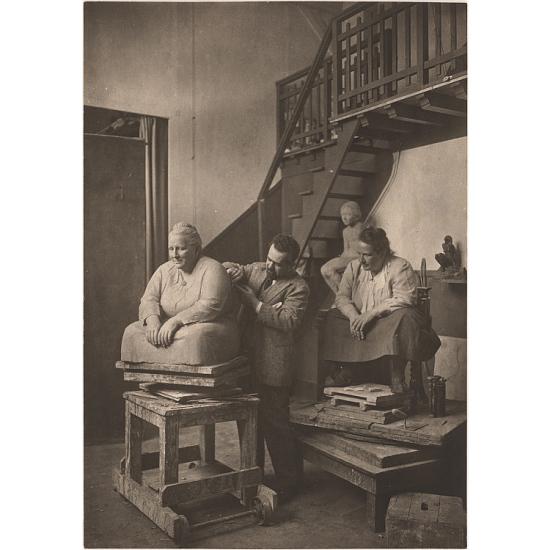 image for Gertrude Stein posing for Jo Davidson