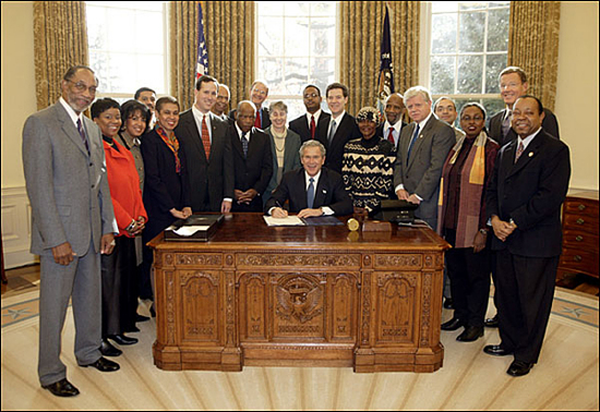 image for President Bush Signs Legislation Creating the NMAAHC