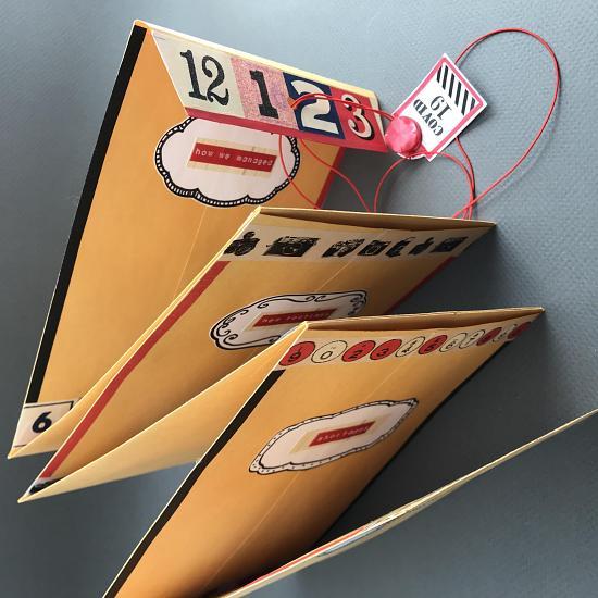 accordion paper time capsule