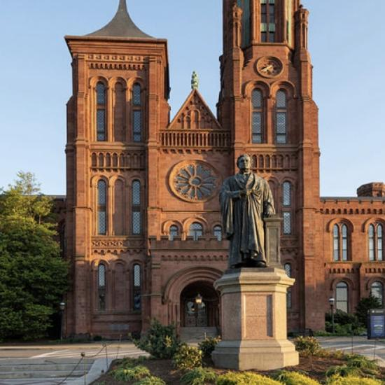 View of Smithsonian Castle north entrance