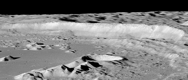 Cliff at Antoniadi Crater