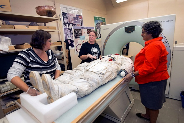 Armstrong's Spacesuit Prepped for CT