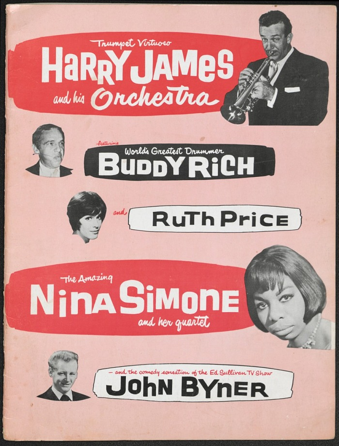 Image for Program for Harry James and Nina Simone with Buddy Rich, Ruth Price, John Byner