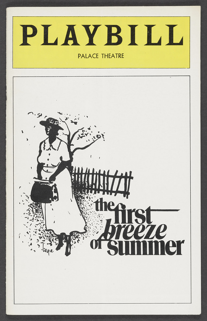 Image for Playbill for The First Breeze of Summer