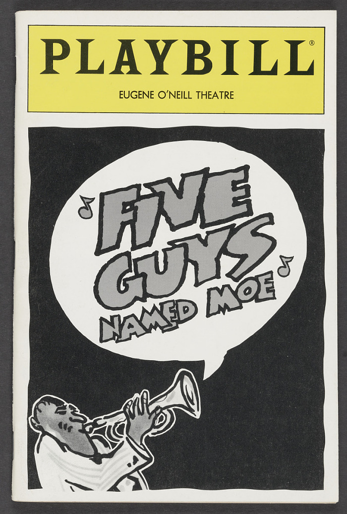 Image for Playbill for Five Guys Named Moe