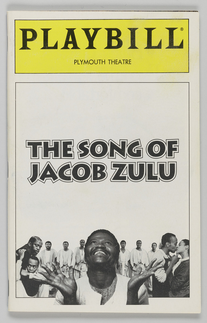 Image for Playbill for The Song of Jacob Zulu