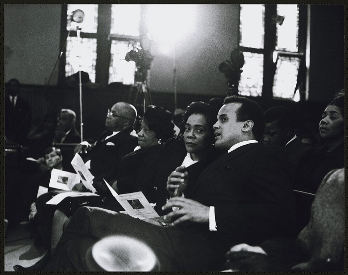 Harry Belafonte Confers With Mrs Coretta Scott King While Seated Next To Rev Martin Luther King Sr And Mrs Alberta King National Museum Of African American History And Culture