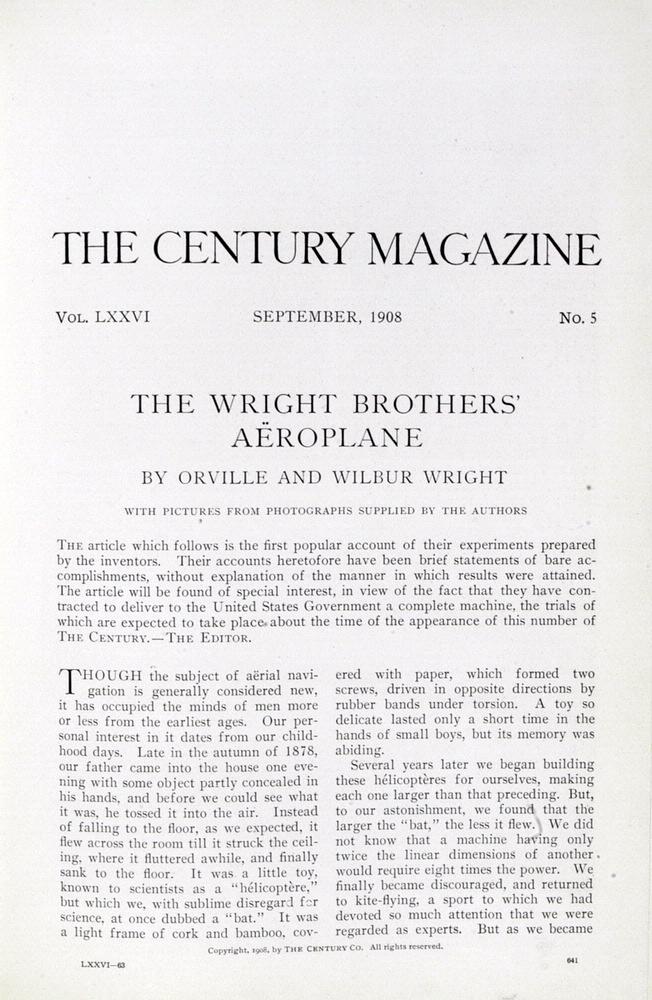 Issue of Century Magazine